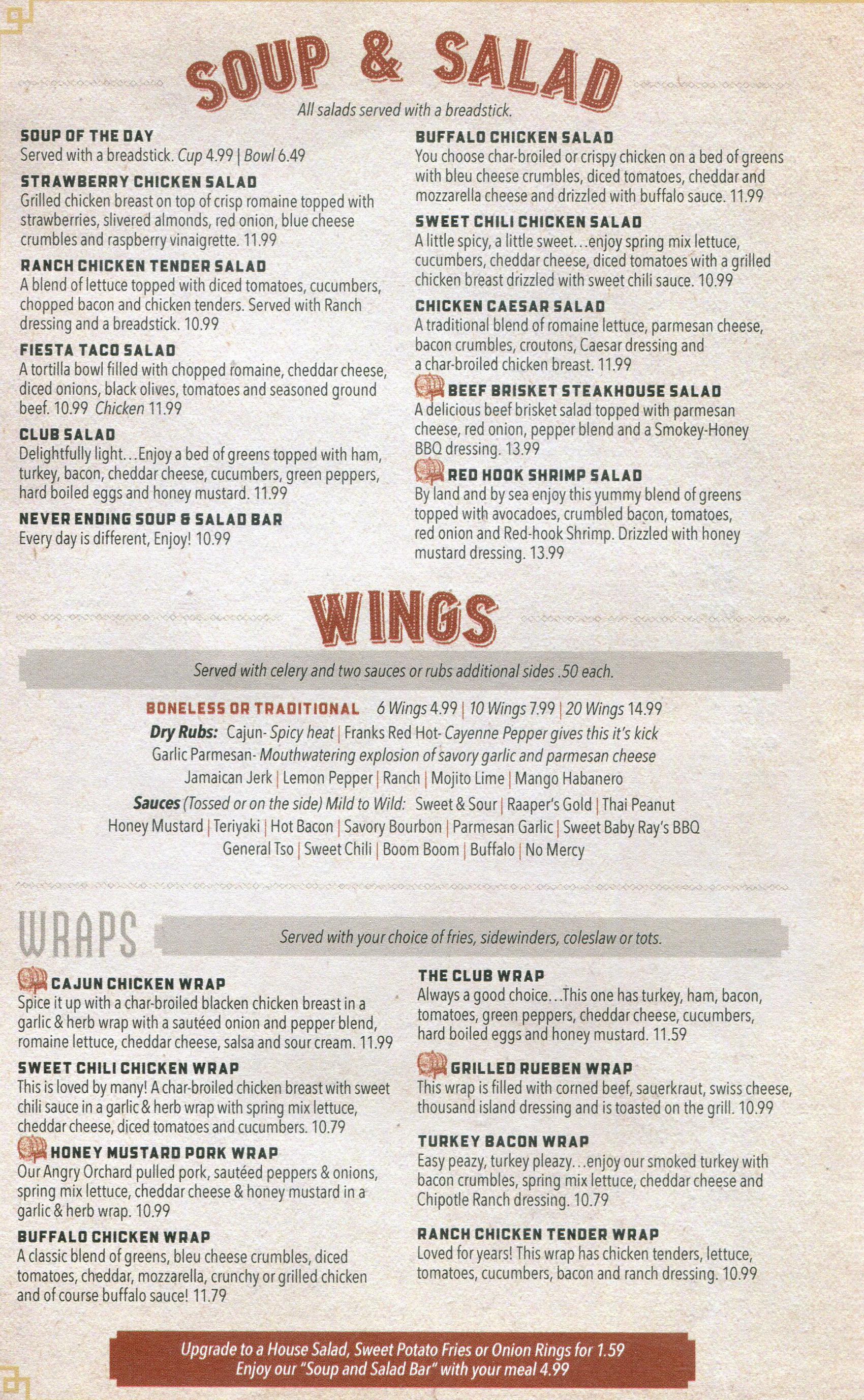 soup and salad menu raapers